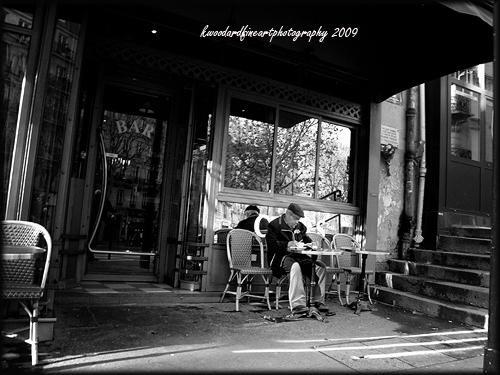 Old man at cafe